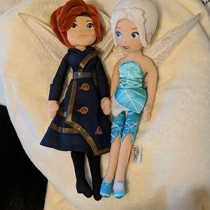 Disney 16 in pixie hollow periwinkle & zarina doll